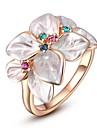 Dragoste cadou pentru femei Classic Rose placate cu aur de flori inel