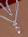vilin femei argint colier de nunta partid stil elegant feminin