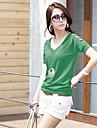 Femei V-gât contractate Joker T-Shirts cu mâneci scurte