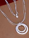 collier argent double cercle vilin femmes classique style féminin