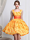 Femei drăguț Daisy Print Retro Dress