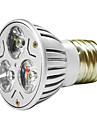 mr16 3w 1w * 3 led-uri 270-300lm lumină caldă alb / albă a condus lumina spot (ac 100--220v)