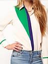 Femei Contrast Shirts Culoare Patchwork maneca lunga șifon Bluza