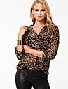 southstore sexy pierde leopard lung camasa cu maneci