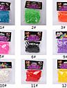 600pcs curcubeu bandă război de țesut război de țesut de culoare de moda (clip 1package s, culori asortate)