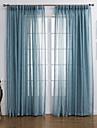 Două Panouri Tratamentul fereastră Modern , Solid Sufragerie Amestec de In/ Poliester Material Sheer Perdele Shades Pagina de decorareFor