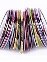 38 pcs Nagelsmycken Nail Foil Striping Tape Vackert nagel konst manikyr Pedikyr Dagligen Mode / Nail Smycken / Foliebandspapp