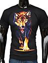 Fashion 3D Wolf imprimate T-shirt pentru bărbați