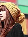 iarnă solid de culoare tricotate pălărie femei