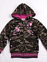 copii straturi cu pulovăr camo strat verde maneca lunga de broderie floral fete antumn de iarnă Jachete de imprimare aleator