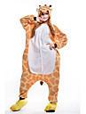 Adults\' Kigurumi Pajamas Giraffe Animal Onesie Pajamas Polar Fleece Orange Cosplay For Men and Women Animal Sleepwear Cartoon Festival / Holiday Costumes