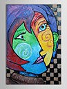 HANDMÅLAD Känd Vertikal Duk Hang målad oljemålning Hem-dekoration En panel