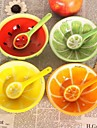 Design de fructe minunat vase ceramice pepene verde, 13x13x4.2cm