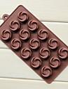 bakformen Blomma Is Choklad Tårta Silikon Miljövänlig GDS (Gör det själv) Teflonbehandlad