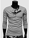 Nono bărbați la două rânduri mânecă lungă T-shirt