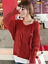 Women's Fashion Pure Twist V Neck Batwing Sleeve Sweater