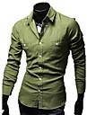 REVERIE UOMO Stil de Vest din bumbac Lenjerie Camasi solid Culoare maneca lunga Man