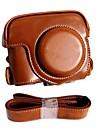 pajiatu® PU aparat foto din piele husă de protecție retro cu portul de încărcare pentru Canon PowerShot G16