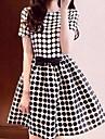 rotunde puncte femei de epocă polka Bowknot rochie