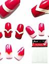 1pc nye design negle stempling billede plader fransk steg blonder plade