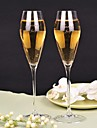 Material Crystal Toasting Flutes Gift Box Holiday Classic Theme All Seasons