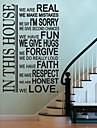 Autocolante de Perete Decorative - Cuvinte și citate autocolante de perete Abstract / Fantezie / Cuvinte & Citate Sufragerie / Dormitor / Lavabil / Detașabil