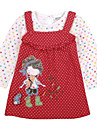 rochii de puncte generale polka copii flori imprimate broderie cu maneca lunga pentru antumn de iarnă pentru copii fete rochii de imprimare aleator