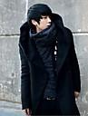 Palton Haină Trench Clasic & Fără Vârstă-Mată Culoare solidă,Culoare pură