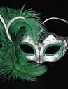 Karnival Mask Dam Halloween Dag för de döda Festival / högtid Halloweenkostymer Enfärgad