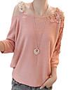 femei dantelă de tricotat un umăr tăiat cămașă petrecere a timpului liber