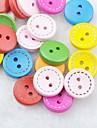 colorat cusut album scraft butoane de bricolaj din lemn (10 buc culoare aleatorii)