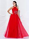 Teacă / coloană înălțime de la gât înălțime lungime tul rochie de seară cu beading de ts couture®