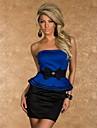 frumusete 2014 de femei noi fara bretele bodycon rochie peplum cu arc sexy mini club partid rochie 9025
