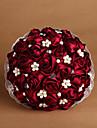 """Flori de Nuntă Rotund Trandafiri Buchete Nuntă Satin Roșu Ca în Poză 7.87""""(Approx.20cm)"""