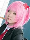 Cosplay Amu Hinamori Pentru femei 14 inch Fibră Rezistentă la Căldură Roz Anime Peruci de Cosplay