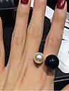 Γυναικεία Δακτύλιος Δήλωσης Μαργαριτάρι Απομίμηση Μαργαριταριού Ρητίνη κυρίες Πετράδια σχετικά με τον μήνα γέννησης Ανοικτό Μοδάτο Δαχτυλίδι Κοσμήματα Λευκό / Μαύρο Για Γάμου Πάρτι Καθημερινά Causal