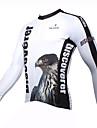 ILPALADINO Homme Manches Longues Maillot de Cyclisme Eagle Cyclisme Maillot Hauts / Top, Garder au chaud Sechage rapide Resistant aux ultraviolets, Printemps Ete Automne, 100 % Polyester / Respirable