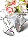 gravură personalizat Te iubesc din metal cuplu breloc