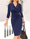 moda v gât Monta femei talie 3/4 rochie cu maneci