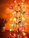 jiawen® 4m 20leds rgb ledde hjärtformat strängljussträngljus för dekoration (ac 110-220v)