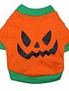 Chat Chien Costume Tee-shirt Tenue Vetements pour Chien Bande dessinee Orange Coton Costume Pour les animaux domestiques Cosplay Halloween