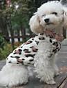 Chat Chien Sweatshirt Pyjamas Vetements pour Chien Leopard Noir Polaire Costume Pour Printemps & Automne Hiver Homme Femme Decontracte / Quotidien