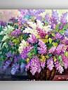 HANDMÅLAD Blommig/Botanisk Duk Hang målad oljemålning Hem-dekoration En panel