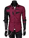 Glory skjortkrage långärmad Solid Color Skarvning tröja