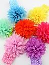 10pcs-pack Infant Baby Girl Chiffon Flower Wide Headband Toddler Elastic hairband Headwear Kids Hair Accessories