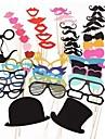 51 buc fotografie hârtie carte de cabina de recuzită partid distractiv favorizează (ochelari& pălărie& mustață& pălărie)