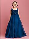 Rochie de bile lungime floare rochie fata rochie - tulle fără mâneci curele de lan ting bride