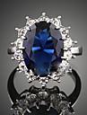 Dame Inele Afirmatoare Cristal Sapphire sintetic La modă Pietre sintetice Zirconiu Cubic Aliaj Bijuterii Pentru Petrecere