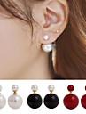 Pentru femei Cercei Stud Cercei Față & Spate costum de bijuterii În Două Părți stil minimalist Perle Imitație de Perle Aliaj Minge