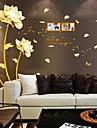 Botanisk Blommig Väggklistermärken Väggstickers Flygplan Dekrativa Väggstickers Material Kan ompositioneras Hem-dekoration vägg~~POS=TRUNC